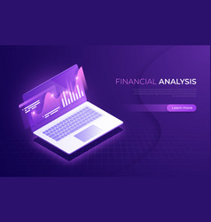 financial analysis analytics data business vector image