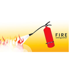 Fire fighting with extinguishers vector