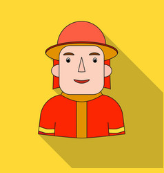 Firefighter icon in flat style isolated on white vector