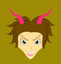 Flat icon on theme evil women vector