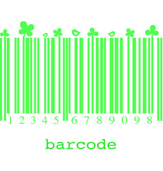 flora barcode image vector image