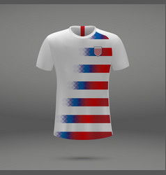 Football kit of usa vector