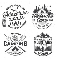 Happy camper concept for shirt or logo vector