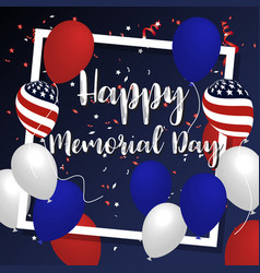 happy memorial day background banner design vector image