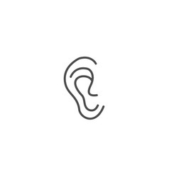 human ear icon vector image