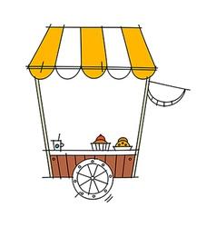 icon cart vector image