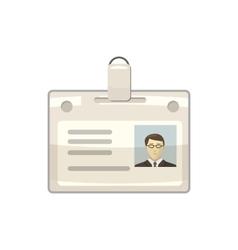 Identification card icon cartoon style vector