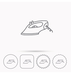 Iron icon Ironing housework sign vector image