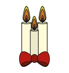Isolated candle of christmas season design vector