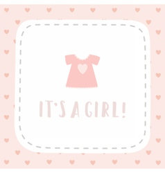 Its a girl Greeting card vector image