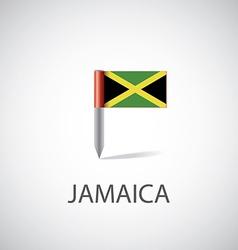 Jamaica flag pin vector image