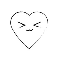 Kawaii heart health care medicine symbol vector