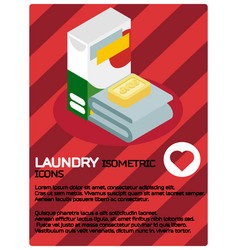laundry color isometric poster vector image