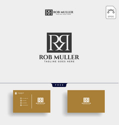 Letter rm r m gold creative logo template vector