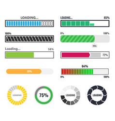 loading bar vector image