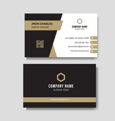 luxury and elegant business card vector image