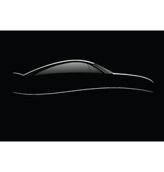 Luxury car lines vector