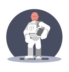 man cosmonaut standing vector image
