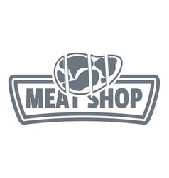 meat shop logo simple style vector image