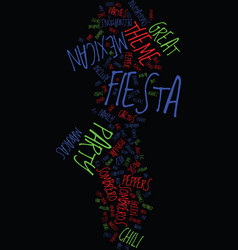 Mexican fiesta theme party ideas text background vector