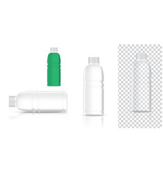 mock up realistic plastic transparent packaging vector image