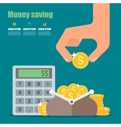 Money saving concept in flat vector