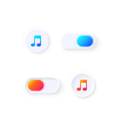 music switch ui elements kit vector image