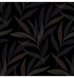 needlework tropic black vector image