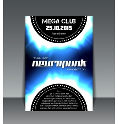 Neuropunk party flyer vector