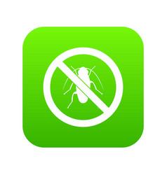 no cockroach sign icon digital green vector image