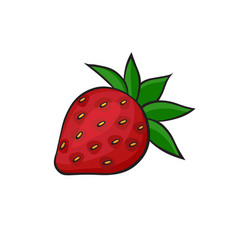 Pop art style strawberry sticker vector