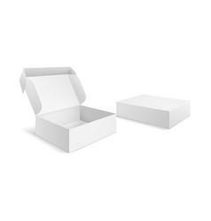 realistic packaging boxes paper blank white box vector image