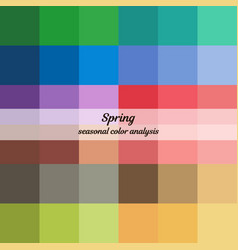 seasonal color analysis palette for spring type vector image