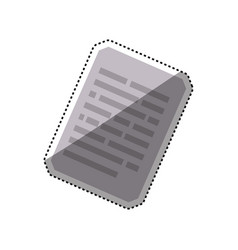 sheet document paper vector image