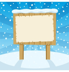 sign and snow vector image