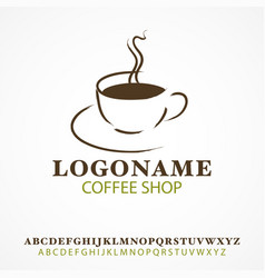 simple graphic and icon cup coffee vector image