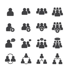 Simple set business people related solid icons vector