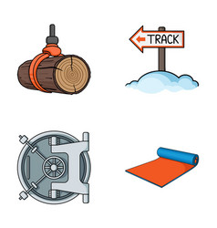 Sport finance and other web icon in cartoon style vector