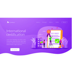 standard for quality control landing page template vector image