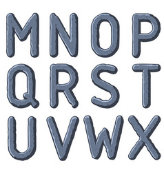 Stone carved letters vector