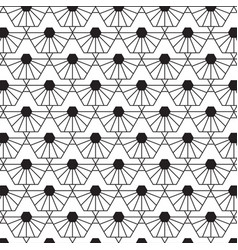 stylish black and white geometric pattern vector image