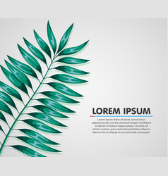 summer background poster with palm leaf vector image