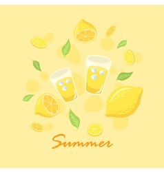 Summer Lemon Lemonade vector