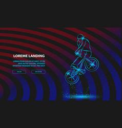 Trick on bmx bike sport background for vector