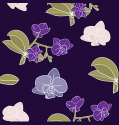 Vintage moody orchids background vector