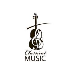 Violinand treble clef vector