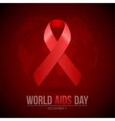 World AIDS Day 1st December World Aids Day hiv vector image