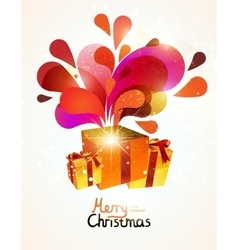 Christmas gifts with abstract explosion vector image