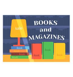 flat design books shop facade icon store modern vector image