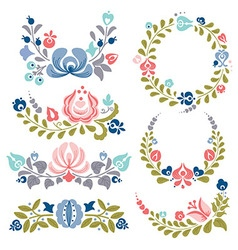 Floral ornaments and frames vector image